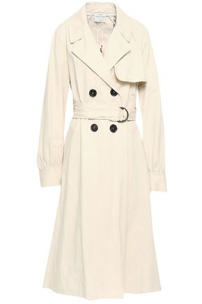 FORTE_FORTE Belted cotton-blend twill trench coat