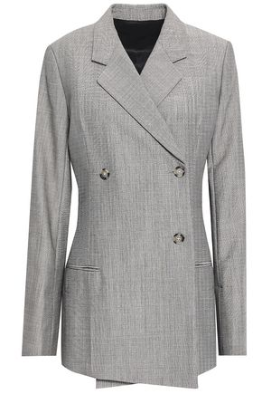 HELMUT LANG Double-breasted wool and mohair-blend blazer