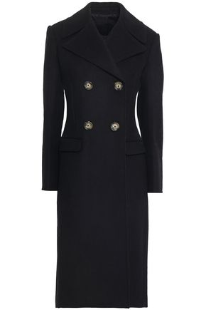 HELMUT LANG Double-breasted wool-blend felt coat