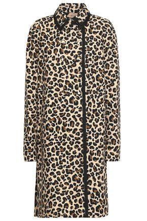 N°21 Leopard-print cotton-canvas jacket