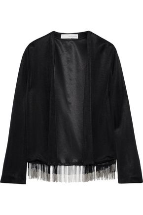GALVAN  London Molten fringed stretch-knit jacket