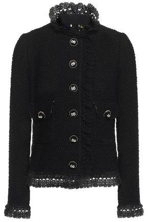 DOLCE & GABBANA Crochet-trimmed wool-blend bouclé jacket