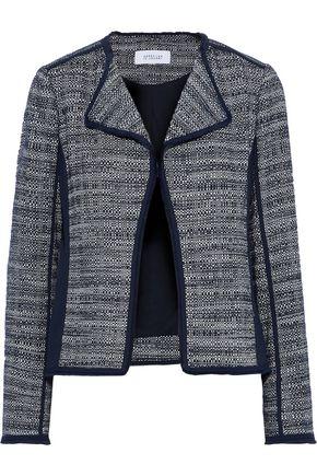 DEREK LAM 10 CROSBY Crepe-paneled frayed cotton-tweed jacket