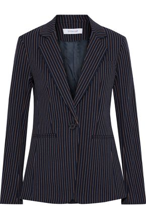 DEREK LAM 10 CROSBY Pinstriped cotton-blend twill blazer