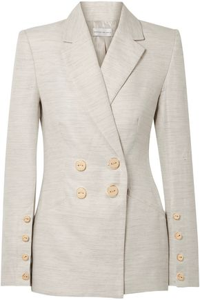REBECCA VALLANCE Maya Cotton and Linen-Blend Blazer