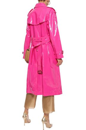 BURBERRY Neon glossed-cotton trench coat