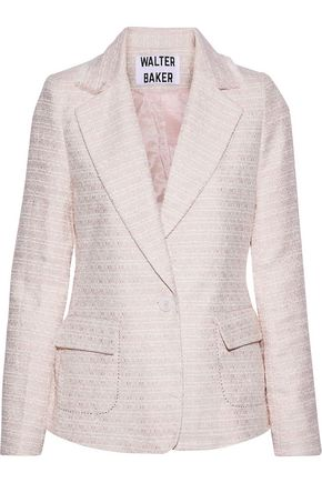 W118 by WALTER BAKER Kari frayed metallic tweed blazer