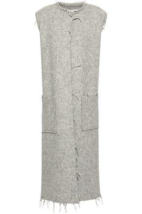 MAISON MARGIELA Frayed mélange brushed alpaca-blend vest
