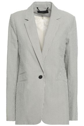 RAG & BONE Striped cotton-seersucker blazer