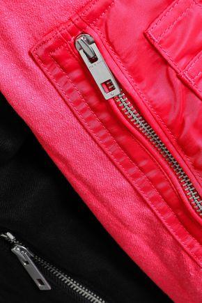 RAG & BONE Two-tone denim bomber jacket