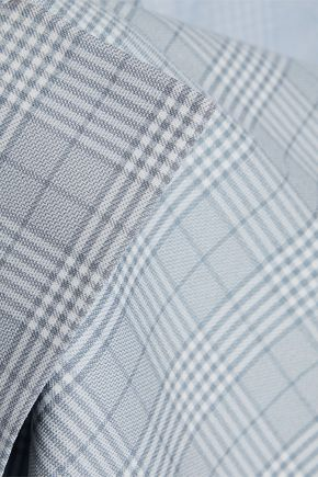 W118 by WALTER BAKER Double-breasted checked woven blazer