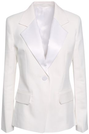 HELMUT LANG Satin-trimmed canvas blazer