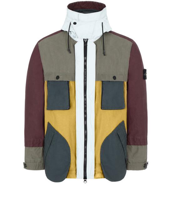 STONE ISLAND 42155 TELA PLACCATA BICOLORE Jacket Man Mustard