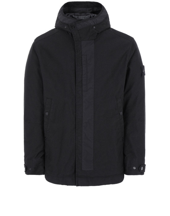 Sold out - STONE ISLAND 442F1 GHOST PIECE_MIL_SPEC DIAGONAL WOOL Jacket Man Black