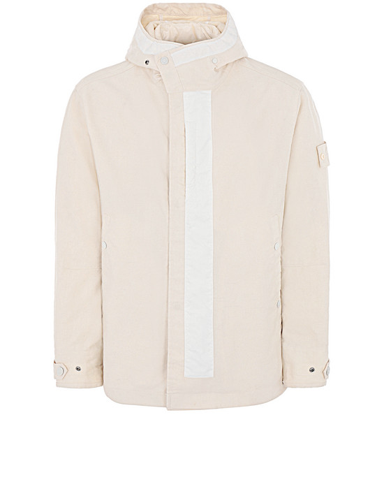 STONE ISLAND 442F1 GHOST PIECE_MIL_SPEC DIAGONAL WOOL Jacket Man Natural White