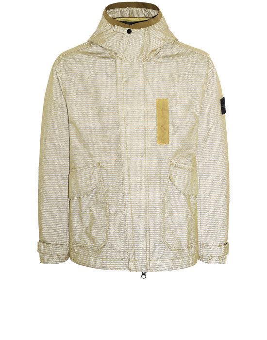 STONE ISLAND 43999 REFLECTIVE WEAVE RIPSTOP-TC WITH PANNO JACQUARD_DETACHABLE LINING Jacket Man Mustard