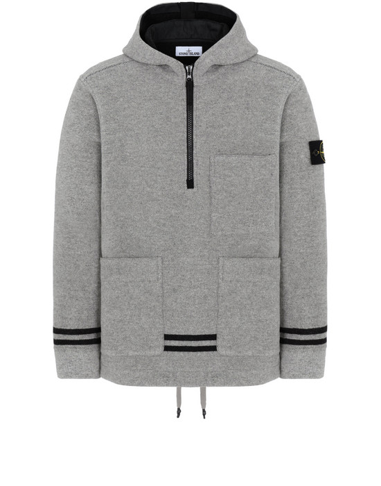 STONE ISLAND 43752 PANNO JACQUARD Jacket Man Dust Grey