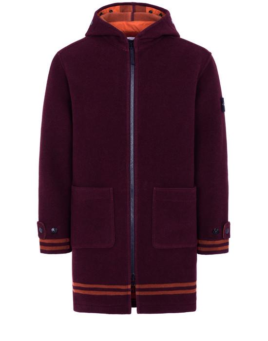 STONE ISLAND 71252 PANNO JACQUARD Mid-length jacket Man Dark Burgundy