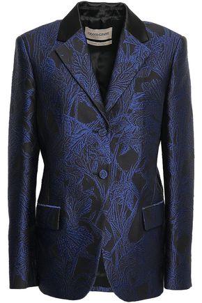 ROBERTO CAVALLI Satin-trimmed jacquard blazer