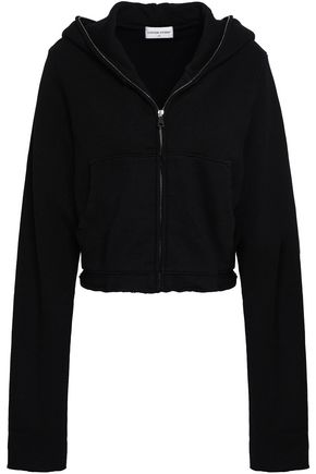 COTTON CITIZEN Cropped cotton-blend hooded jacket