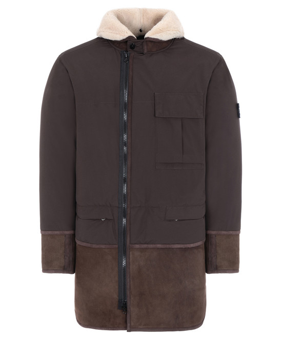 STONE ISLAND 70830 GORE-TEX INFINIUM™ WITH SHEEPSKIN_PRIMALOFT® INSULATION Mid-length jacket Man
