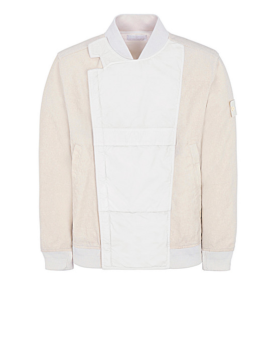 STONE ISLAND 443F1 GHOST PIECE_MIL_SPEC DIAGONAL WOOL Jacket Man Natural White
