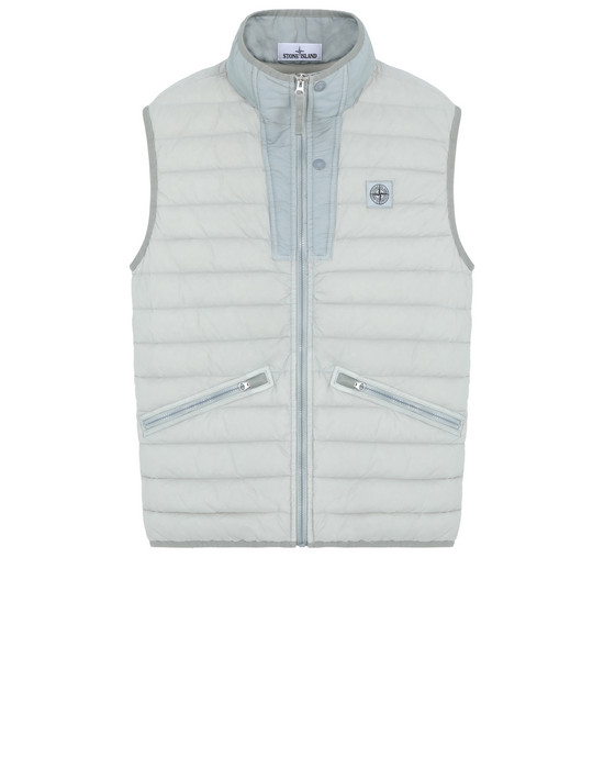 Vest G0225  LOOM WOVEN DOWN CHAMBERS STRETCH NYLON-TC  STONE ISLAND - 0