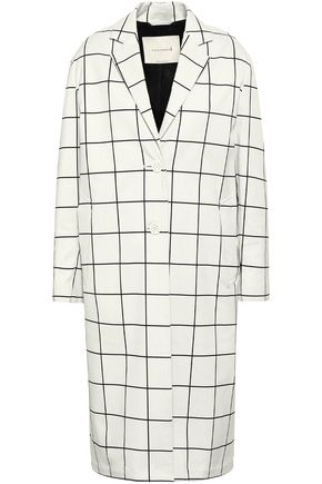MACKINTOSH Checked cotton-blend jacquard coat