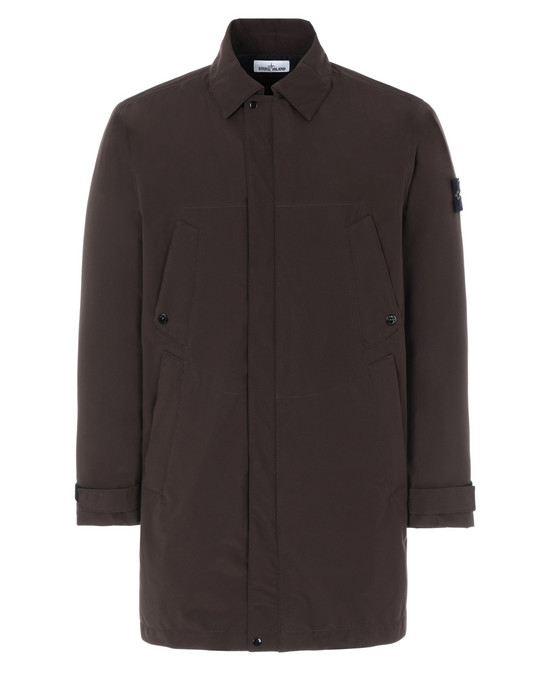 STONE ISLAND 41729 GORE-TEX PACLITE® PRODUCT TECHNOLOGY WITH PRIMALOFT® INSULATION  Mid-length jacket Man Dark Brown