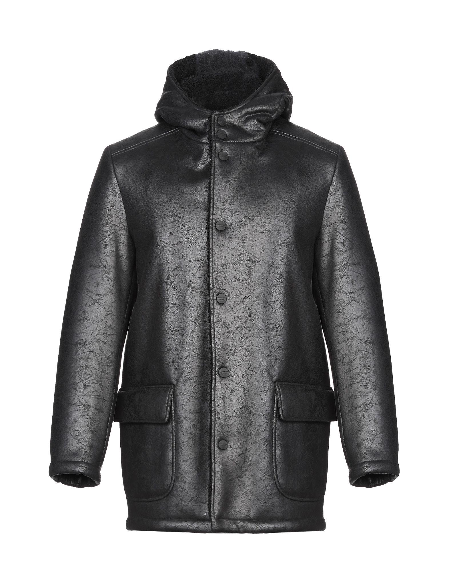 《期間限定 セール開催中》LABORATORI ITALIANI メンズ コート ブラック 44 ポリエステル 100%
