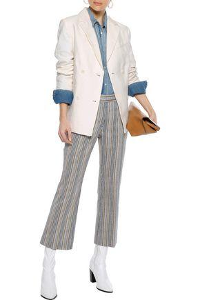 FRAME Double-breasted linen-blend blazer