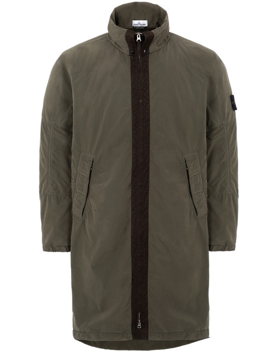 STONE ISLAND 70631 DAVID LIGHT-TC WITH MICROPILE Mid-length jacket Man Olive Green