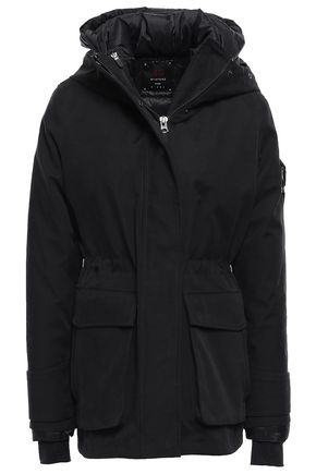 49WINTERS Convertible cotton-blend gabardine hooded down coat