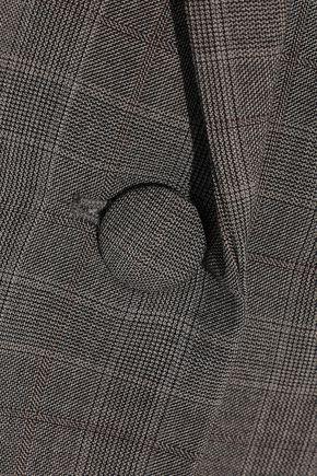 FRAME Oversized checked wool blazer