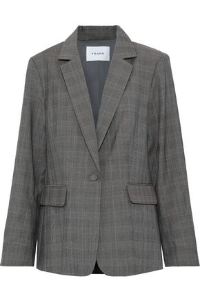 FRAME Oversized checked wool blazer