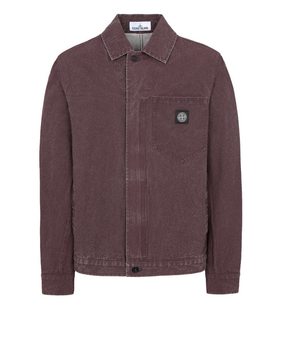 STONE ISLAND Q10J1 PANAMA PLACCATO LIGHTWEIGHT JACKET Man Dark Burgundy