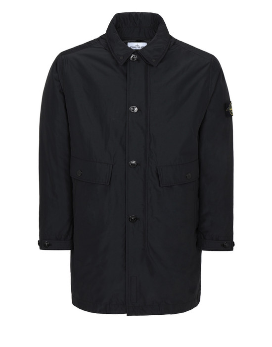 STONE ISLAND 70526 MICRO REPS WITH PRIMALOFT® INSULATION TECHNOLOGY Mid-length jacket Man Black