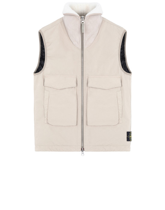 Vest G0448 DAVID-TC DOWN WITH SHEEPSKIN STONE ISLAND - 0