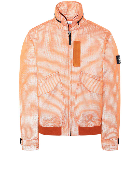 STONE ISLAND 43699 REFLECTIVE WEAVE RIPSTOP-TC Jacket Man Orange