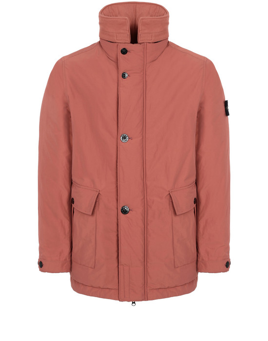 STONE ISLAND 40726 MICRO REPS WITH PRIMALOFT® INSULATION TECHNOLOGY  Mid-length jacket Man Rust