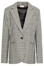 MILLY Prince of Wales checked wool blazer