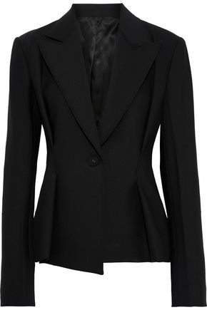 HELMUT LANG Pleated stretch-cady blazer