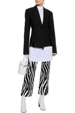 HELMUT LANG Pleated stretch-cady blazer
