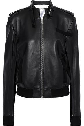 HELMUT LANG Members Only cutout leather biker jacket
