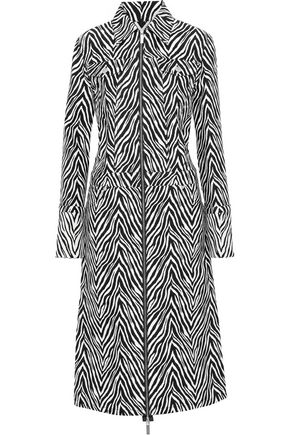 HELMUT LANG Cotton and silk-blend zebra-jacquard coat