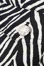 HELMUT LANG Cotton and silk-blend zebra-jacquard coat