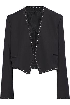HELMUT LANG Studded crepe jacket