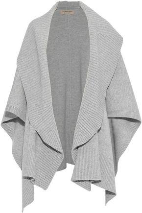 BURBERRY Mélange wool-blend cape