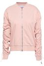 NINETY PERCENT Ruched cotton-jersey bomber jacket