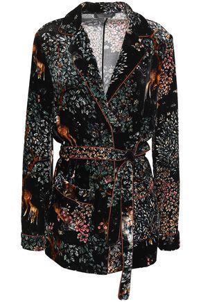 ALBERTA FERRETTI Printed velvet jacket